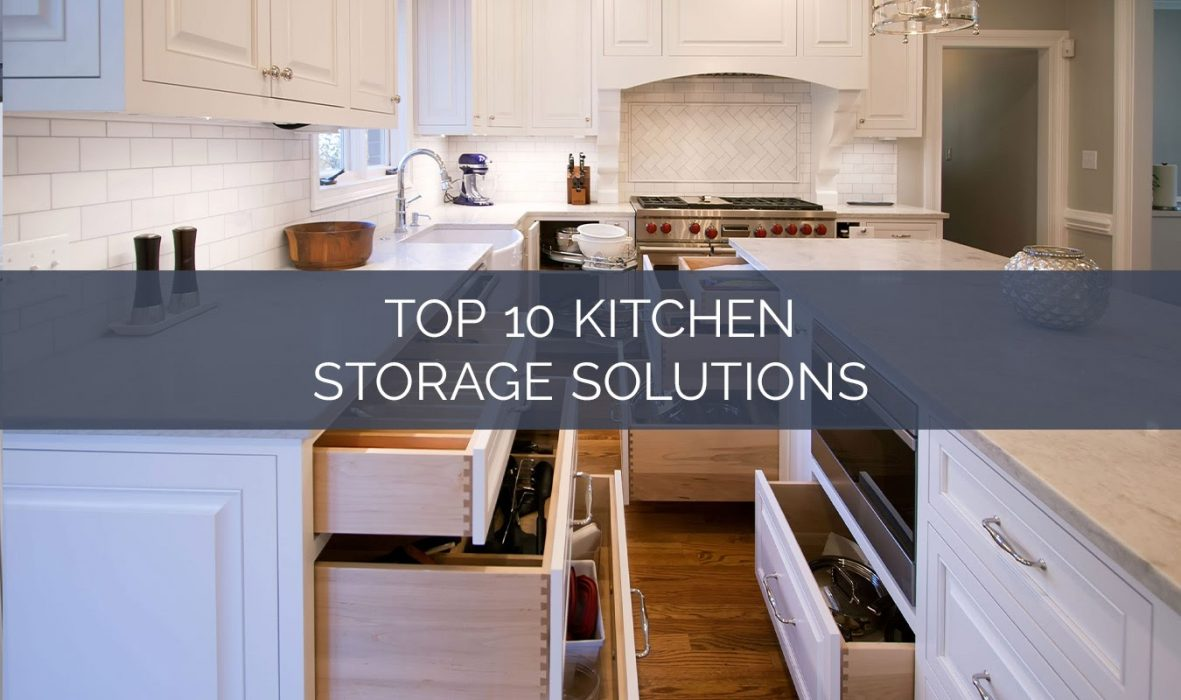 photo of kitchen with open drawers