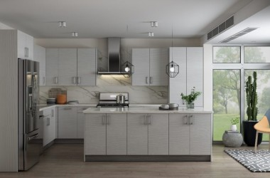 photo of kitchen with modern cabinets